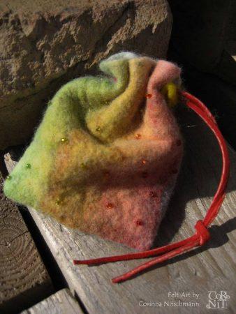 Nunofilzen - ein Chiffonbeutelchen