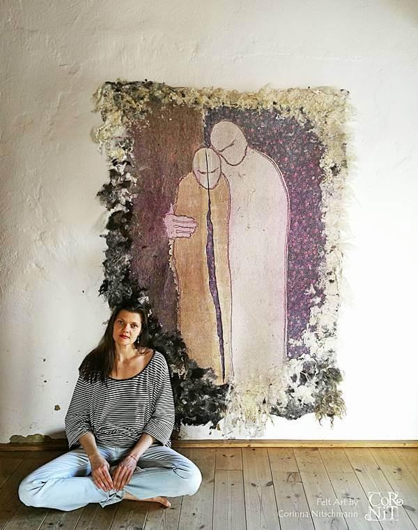 15 Nunofilzbild mit Corinna CorNit Nitschmann