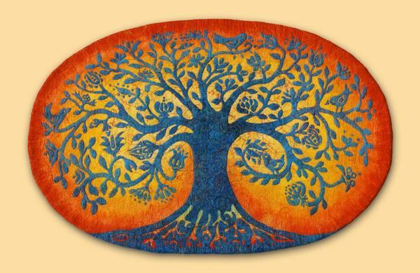 Filzbild Lebensbaum