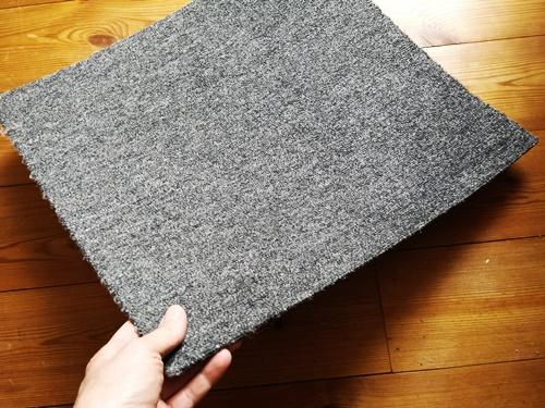 Auslegeware Teppich als Filzunterlage